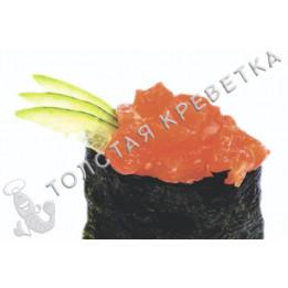Спайси суши с острым лососем